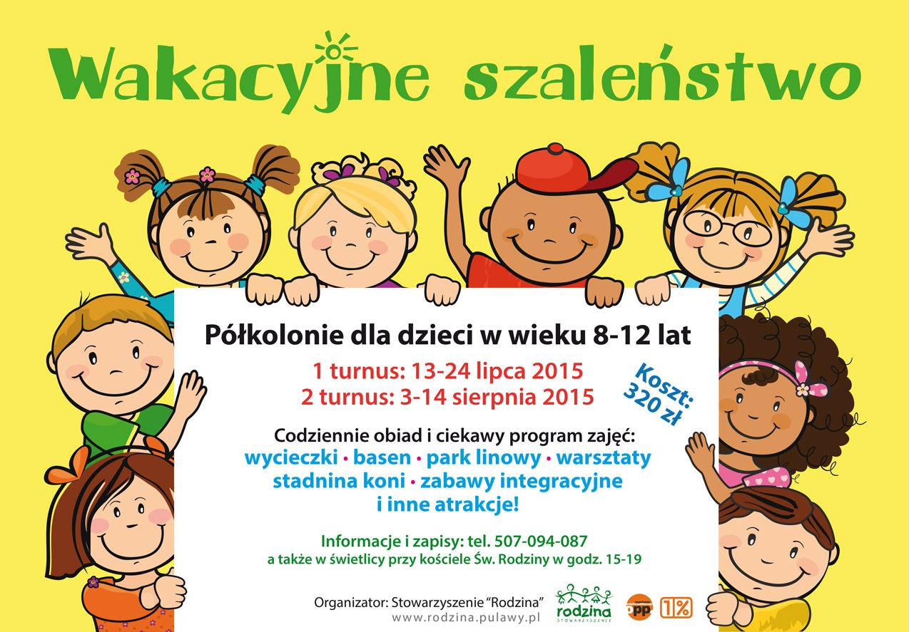 Wakacje 2015 - plakat